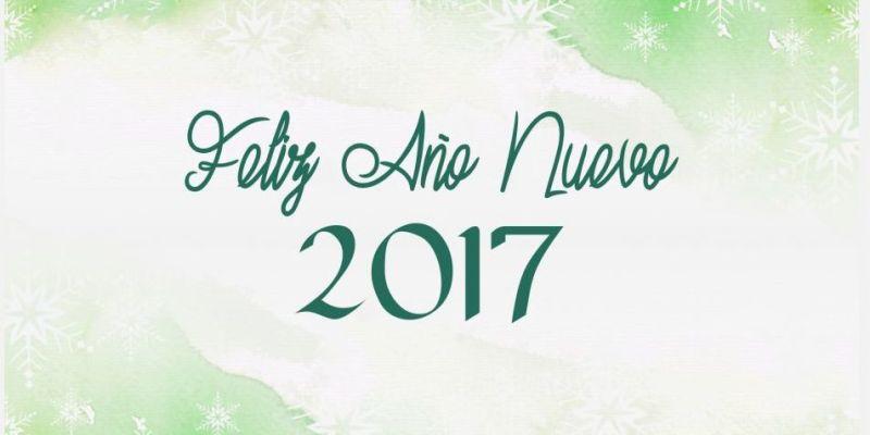 ¡FELIZ AÑO NUEVO! 2017
