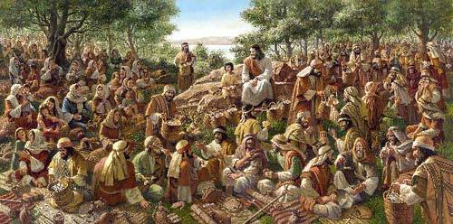 La multiplicación de los panes, figura de la Eucaristía
